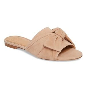 Tory Burch Annabelle Blush Pink Bow Slide Sandal